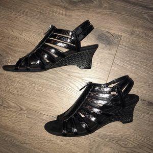 Black Aerosoles Sandals with Zipper